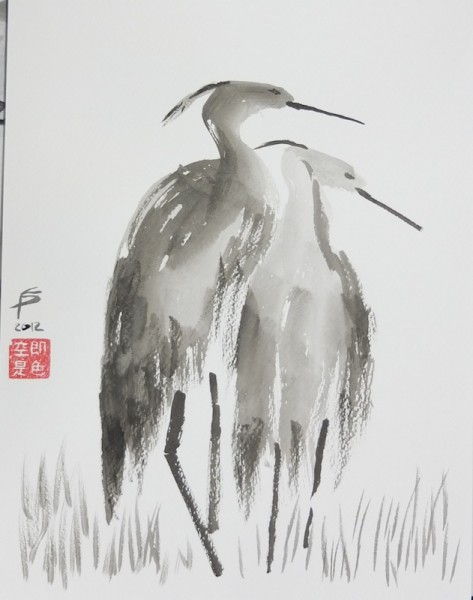 Hearon, Sumi-e - Ink, paper